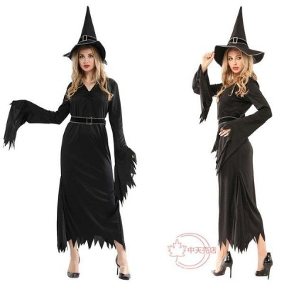 万聖節ハロウィンコスプレグッズセットキャラクターHalloween巫女cosplay仮装レディース大人用ウィッチ帽子付きコスチュームイベント舞台衣装