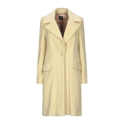 CRISTINAEFFE コート ライトイエロー 40 バージンウール 70% / ナイロン 20% / カシミヤ 10% コート