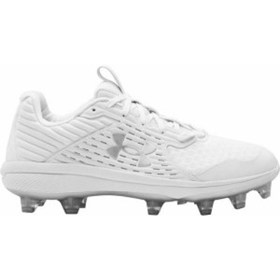 アンダーアーマー メンズ スニーカー シューズ Under Armour Men's Yard TPU Baseball Cleats White/White