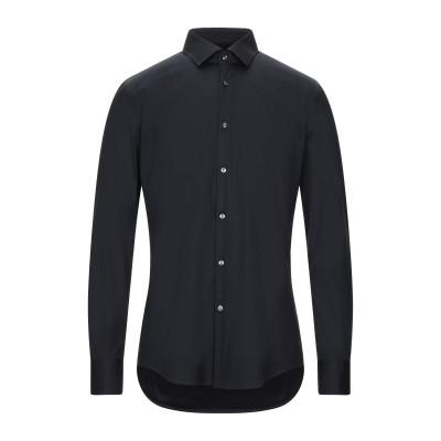 BOSS HUGO BOSS シャツ ブラック 39 コットン 75% / ナイロン 20% / ポリウレタン 5% シャツ