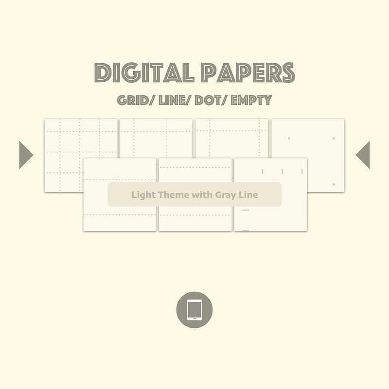 電子筆記本內頁-淺底灰線