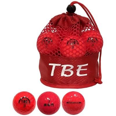 TOBIEMON ゴルフボール パール メッシュバッグ入り R&A公認球 1ダース(12球入り) レッド T-2PR