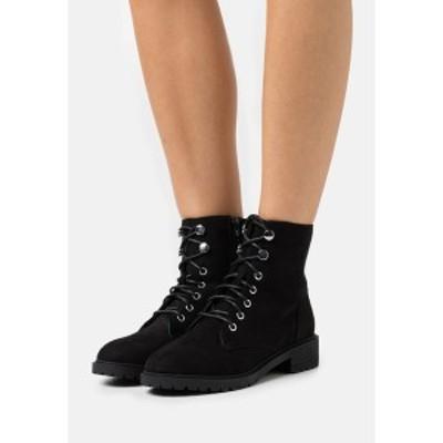 ニュールック レディース ブーツ&レインブーツ シューズ CRISTA - Lace-up ankle boots - black black