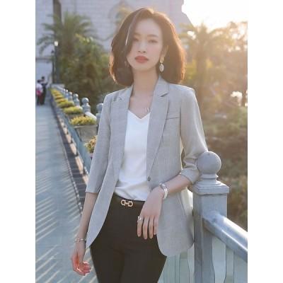 ジャケット フォーマル ブレザー テーラードジャケット レディース 夏 薄手 サマージャケット ビジネス オフィス 着痩せ スーツジャケット