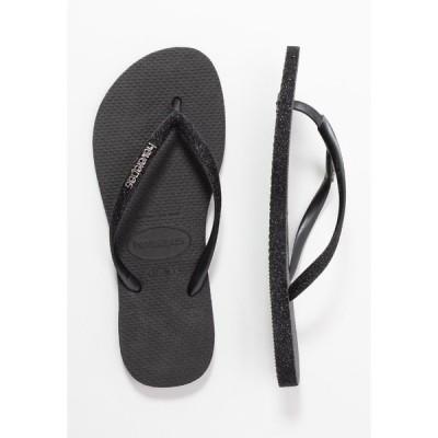 ハワイアナス サンダル レディース シューズ SLIM FIT SPARKLE - T-bar sandals - black