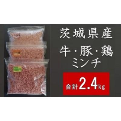 D1351 茨城県産お肉たっぷり!牛肉 豚肉 鶏肉ひき肉3種×800g【合計2400g】 バラ凍結