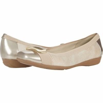 アン クライン Anne Klein レディース スリッポン・フラット シューズ・靴 Uplift Flat Beige