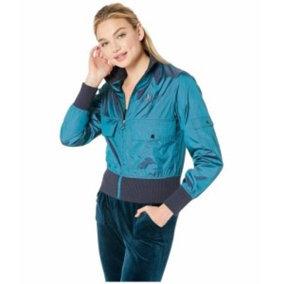 Juicy Couture ジューシークチュール 服 一般 Iridescent Bomber Jacket with Embroidery