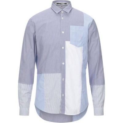 アレキサンダー マックイーン McQ Alexander McQueen メンズ シャツ トップス striped shirt Dark blue