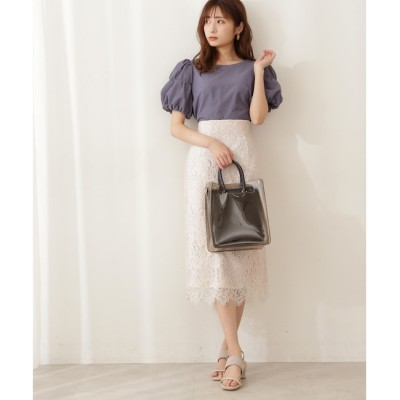 【プロポーションボディドレッシング/PROPORTION BODY DRESSING】 ナローレーススカート・WEB限定カラー:ミント