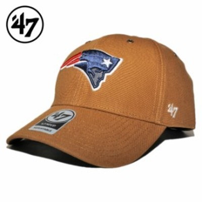 47ブランド カーハート コラボ ストラップバックキャップ 帽子 メンズ レディース 47BRAND CARHARTT NFL ニューイングランド ペイトリオ
