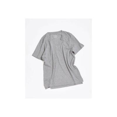 AntiSoaked VネックTシャツ トップグレー4