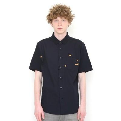 シャツ ブラウス クロウフィッシュアクアリウム | ピケコンビ半袖シャツ(ネイビー)