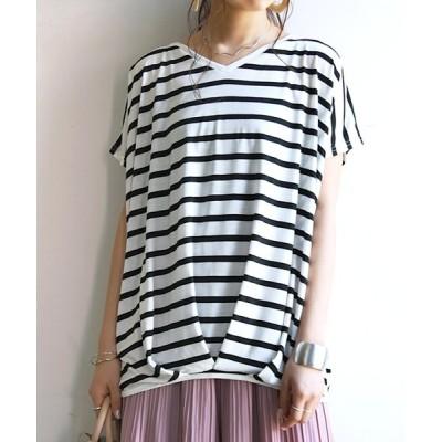 and it_ / 裾タックワイドプルオーバー WOMEN トップス > Tシャツ/カットソー