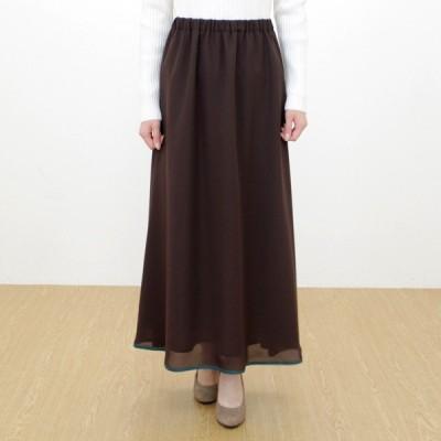 MARECHAL TERRE(マルシャルテル)裾パイピングスカート 美しい縦長ラインを生み出すロングフレアースカートです