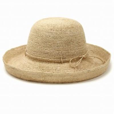 帽子 レディース UV サイズ調節 麦わら帽子 細編みセーラー UVカット 折りたたみ ラフィア ハット つば広 夏 ストローハット レディース