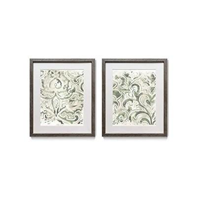 特別価格Abstract Wall Art, Rustic Silver Distressed Frame 2-Piece Wall Décor Set: N好評販売中