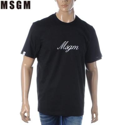 エムエスジーエム MSGM クルーネックTシャツ 半袖 メンズ 2840MM237 207098 ブラック