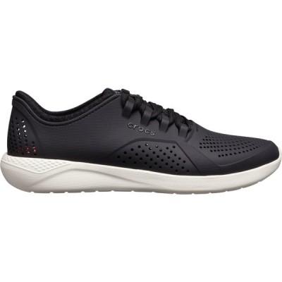 クロックス スニーカー シューズ メンズ Crocs Men's LiteRide Pacer Shoes Black/White