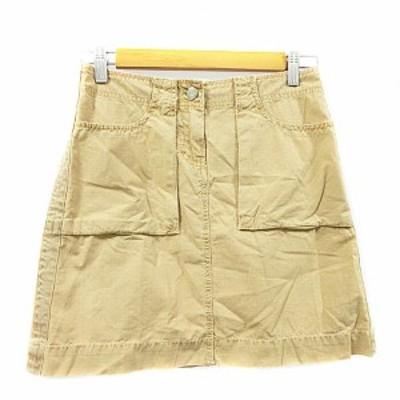 【中古】ジェイクルー J.CREW スカート ワーク 台形 ミニ 00 黄色 イエロー /AAM3 レディース