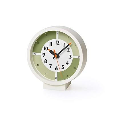 レムノス 置き時計 アナログ ふんぷんくろっくウィズカラーフォーテーブル 緑 掛け置き キッズ YD18-05GN Lemnos