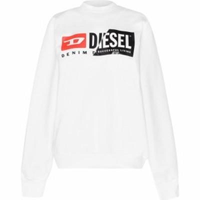 ディーゼル Diesel レディース スウェット・トレーナー トップス Logo Sweat White