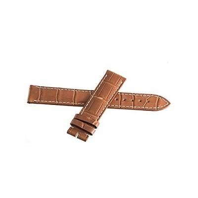 【送料無料】Genuine Longines 19mm x 18mm White Stitches Brown Leather Watch Band L68214