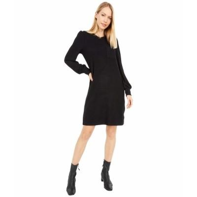 ラッキーブランド ワンピース トップス レディース Cozy Knit Rib Sleeve Dress Lucky Black