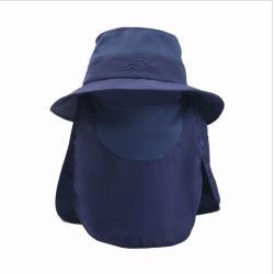 PUSH!戶外用品防曬帽子男遮陽帽漁夫帽釣魚透氣太陽帽遮臉帽H34