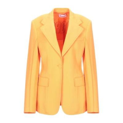 BROGNANO テーラードジャケット オレンジ 38 レーヨン 63% / コットン 37% テーラードジャケット
