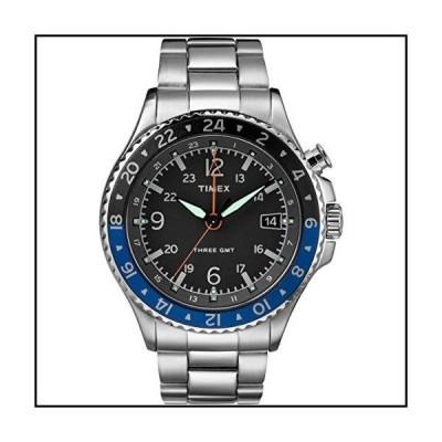 【新品】Timex Allied Three GMT Black Dial Stainless Steel Men's Watch TW2R43500