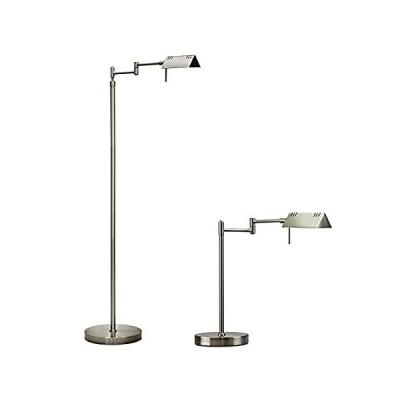 O'Bright LED Pharmacy Floor Lamp and Table Lamp Bundle, 12W LED, Full Range