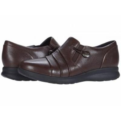 Clarks クラークス レディース 女性用 シューズ 靴 ローファー ボートシューズ Un Adorn Loop Dark Brown Leather【送料無料】