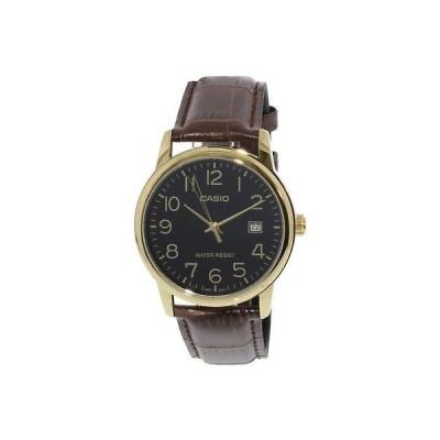 腕時計 カシオ Casio Men's MTPV002GL-1B Gold Leather Japanese Quartz Fashion Watch