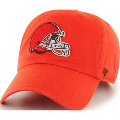 フォーティセブン 47 メンズ キャップ 帽子 ' Cleveland Browns Clean Up Orange Adjustable Hat