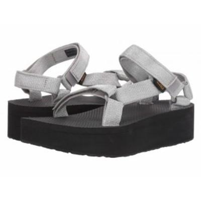 Teva テバ レディース 女性用 シューズ 靴 サンダル Flatform Universal Metallic Silver【送料無料】