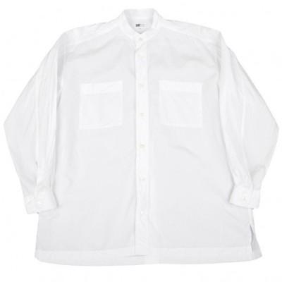 イッセイミヤケISSEY MIYAKE ミヤケデザインスタジオ MIYAKE DESIGN STUDIO コットンスタンドカラーシャツ 白L 【メンズ】