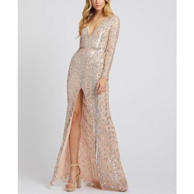 マックダガル ワンピース トップス レディース Embellished Gown Rose Gold