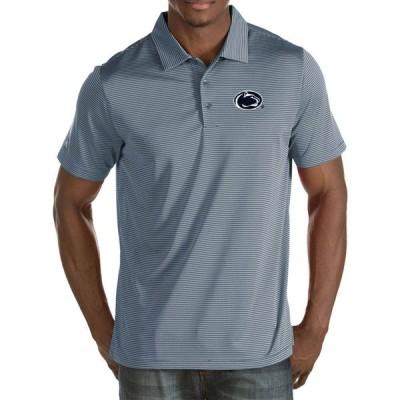 アンティグア Antigua メンズ ポロシャツ トップス Penn State Nittany Lions Grey Quest Polo