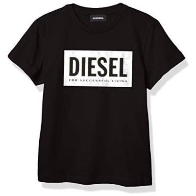 Diesel Girls' Little Short Sleeve T-Shirt, Classic Nero, 6