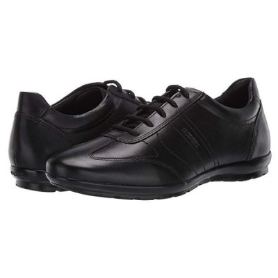 Geox Uomo Symbol メンズ オックスフォード Black Smooth Leather 1