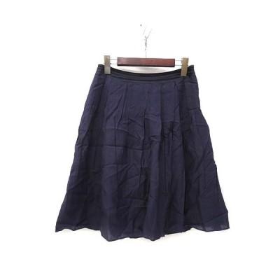 【中古】フレディ fredy スカート 38 紺 ネイビー ミニ フレア 無地 シンプル レディース 【ベクトル 古着】