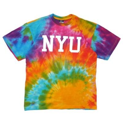 海外限定 ニューヨーク 大学 NYU New York University TIE-DYE LOGO TEE Tシャツ MULTI 999006003049 BUYERS PUSH