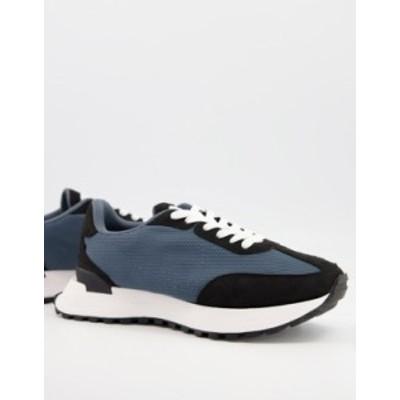 エイソス メンズ スニーカー シューズ ASOS DESIGN sneakers in gray with feature sole Grey