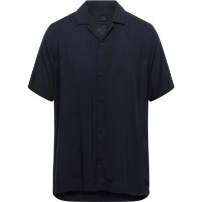 アルマーニ ARMANI EXCHANGE メンズ シャツ トップス solid color shirt Dark blue