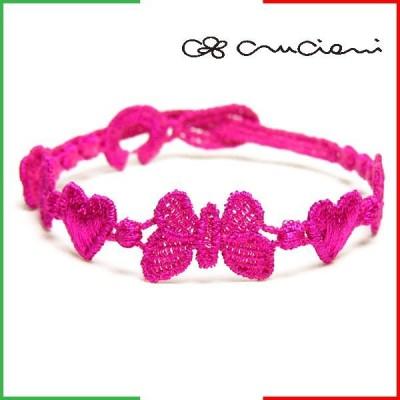 クルチアーニ Cruciani 刺繍ブレスレット チョウチョデザイン メンズ レディース