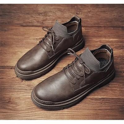 2020新入荷 高級品質 通勤する 2020新型 秋 ファッション マーティンブーツ メンズ 革靴 レトロ スリム ヴィンテージ オシャレ 韓国版 カジュアル 気質 簡約