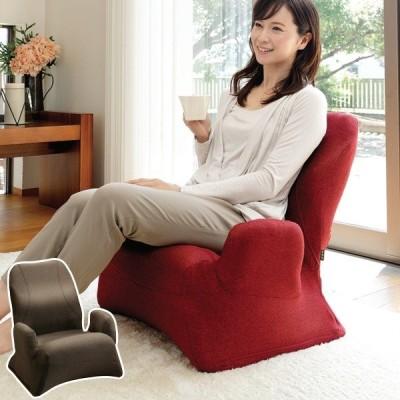 座椅子 座面高21cm リクライニング機能 肘掛け 勝野式 美姿勢習慣くつろぎプレミアム ( 椅子 イス いす 和室 洋室 )