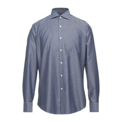 SONRISA 柄入りシャツ  メンズファッション  トップス  シャツ、カジュアルシャツ  長袖 ダークブルー