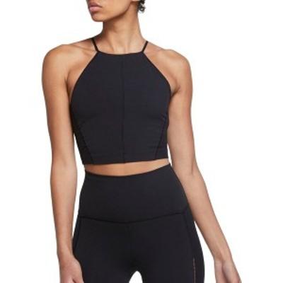 ナイキ レディース シャツ トップス Nike Women's Yoga Infinalon Crop Tank Top Black